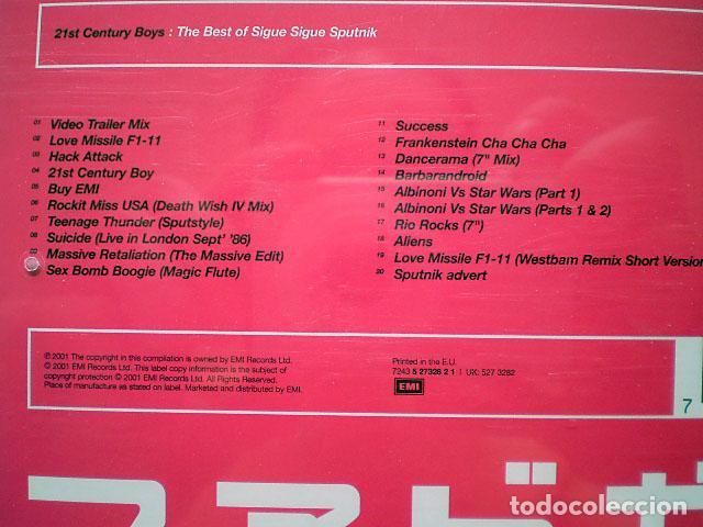 CDs de Música: Sigue Sigue Sputnik: 21st Century Boys: The Best of (CD) impecable - Foto 3 - 108709847
