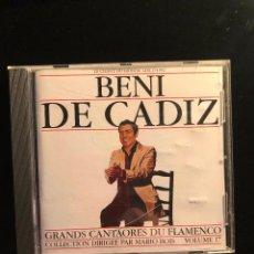 CDs de Música: BENI DE CÁDIZ GRANDS CANTAORES DU FLAMENCO. Lote 108736055