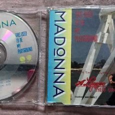 CDs de Música: MADONNA - THIS USED TO ME PLAYGROUND*3 - 9362 40510-2 - GERMANY CD SINGLE - CD-HOLE: 936240510-2 WME. Lote 108751403