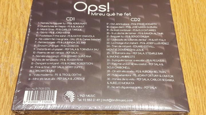 CDs de Música: PEP SALA / OPS ! MIREU QUÈ HE FET / DIGIPACK-DOBLE CD / 31 TEMAS / PRECINTADO. - Foto 2 - 253083525