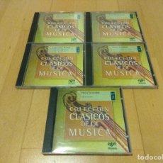"""CDs de Música: LOTE 5 CD """"COLECCIÓN CLÁSICOS DE LA MÚSICA"""" EGIN MUY BUEN ESTADO. Lote 108780663"""