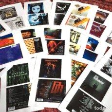 CDs de Música: LOTE DE 125 CARATULAS DE CD - ROCK METAL - IRON MAIDEN METALLICA AC DC ROLLING STONES ELVIS PRESLEY. Lote 108782583