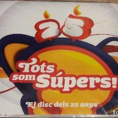 CDs de Música: TOTS SOM SÚPERS / EL DISC DELS 25 ANYS / DOBLE CD / FANATIC-BLANCO Y NEGRO / PRECINTADO.. Lote 148921349