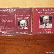 CDs de Música: MIKLOS ROZSA - MUSICAL AUTOBIOGRAPHY VOLUMEN TWO 1950 - CD. Lote 243545315