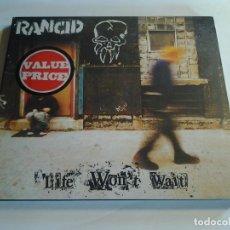CDs de Música: RANCID, LIFE WON´T WAIT, CD, EPITAPH EUROPE, 1998, PAISES BAJOS. Lote 108860607