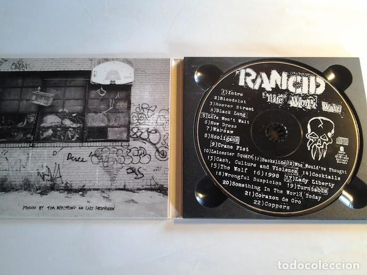 CDs de Música: Rancid, Life Won´t Wait, CD, Epitaph Europe, 1998, Paises Bajos - Foto 2 - 108860607