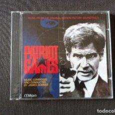 CDs de Música: CD PATRIOT GAMES ( JUEGO DE PATRIOTAS ) BANDA SONORA ALBUM 1992 SUIZA JAMES HORNER ( PRECINTADA ). Lote 108898059
