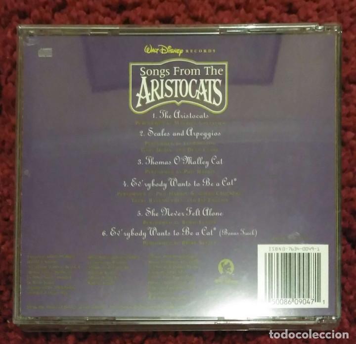 CDs de Música: B.S.O. SONGS FROM THE ARISTOCATS (B.S.O. LOS ARISTOGATOS) CD 1996 WALT DISNEY - Foto 2 - 108986651