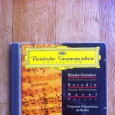 CD di Musica: DEUTSCHE GRAMMOPHON COLLECTION - RIMSKY-KORSAKOV - BORODIN - RAVEL ( HERBERT VON KARAJAN ). Lote 109073567