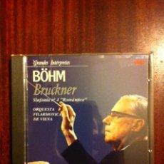 CD di Musica: GRANDES INTERPRETES - BÖHM - BRUCKNER - ORQUESTA FILARMONICA DE VIENA. Lote 109103983