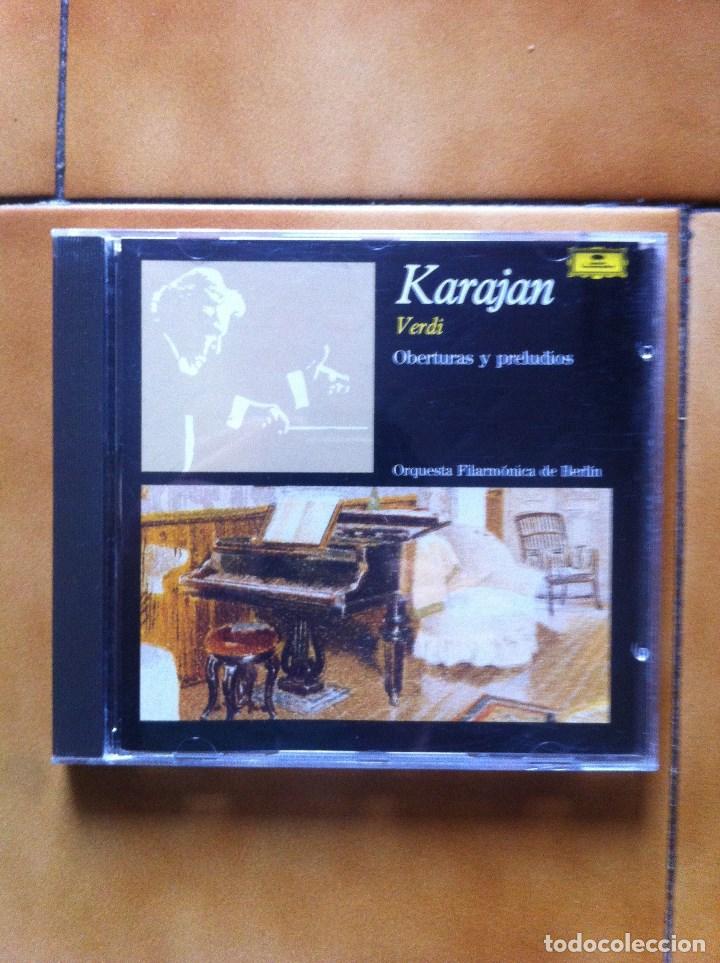 KARAJAN - VERDI - OBERTURAS Y PRELUDIOS - ORQUESTA FILARMONICA BERLIN (Música - CD's Bandas Sonoras)
