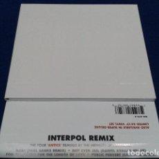 CD di Musica: CD INTERPOL ( REMIX ) 2005 MATADOR OLE 675 - 2 EP 4 CANCIONES DIGIPACK CON RELIEVE NUEVO. Lote 109115463