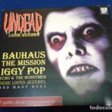 CDs de Música: UNDEAD A GOTHIC MASTERPIECE SET 3 CD 1999 DRESSED TO KILL- 50 TEMAS - IGGY POP , ECHO & THE BUNNYMEN. Lote 109121943