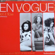 CDs de Música: EN VOGUE. LET IT FLOW. ( REMIXES), CD SINGLE 4 TEMAS.. Lote 109432263