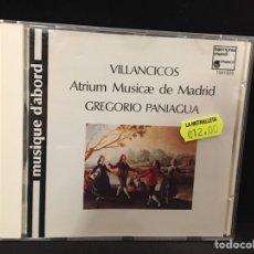 CDs de Música: ATRIUM MUSICAE DE MADRID / GREGORIO PANIAGUA - VILLANCICOS - CD. Lote 109481352