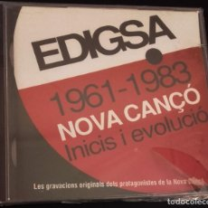 CDs de Música: EDIGSA 1961 - 1983 NOVA CANÇÓ: INICIS I EVOLUCIÓ - DOBLE CD - NUEVO. Lote 109483479