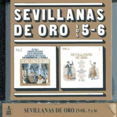 CDs de Música: SEVILLANAS DE ORO VOL. 5-6 (CD HISPAVOX 1988). Lote 109488127