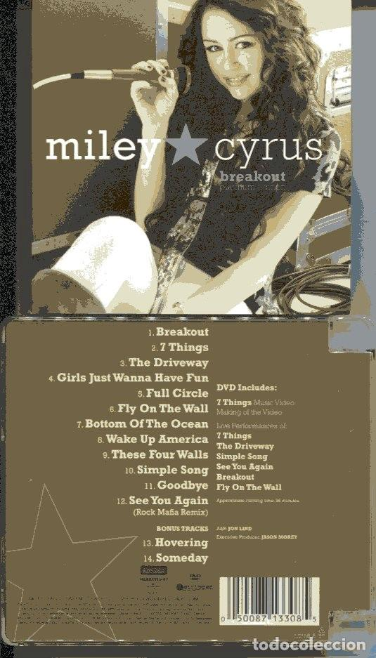 MILEY CYRUS / BREAKOUT (CD + DVD HOLLYWOOD RECORDS 2008) (Música - CD's Pop)