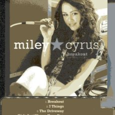 CDs de Música: MILEY CYRUS / BREAKOUT (CD + DVD HOLLYWOOD RECORDS 2008). Lote 109493263