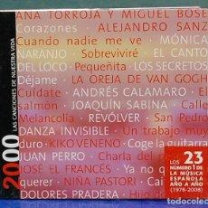 CDs de Música: LAS CANCIONES DE NUESTRA VIDA, 2000. CD . Lote 109493431