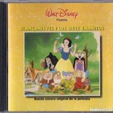 CDs de Música: WALT DISNEY : BLANCANIEVES Y LOS 7 ENANITOS (BANDA SONORA ORIGINAL EN CASTELLANO) - EDICION 1991 EMI. Lote 109499375