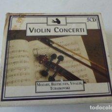 CDs de Música: VIOLIN CONCERTI. 5 CDS.. Lote 109536175