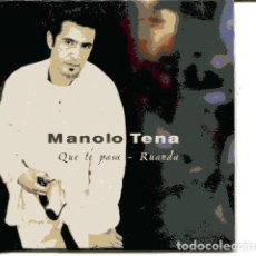CDs de Música: MANOLO TENA / QUE TE PASA / RUANDA (CD SINGLE CARTON PROMO 1998) . Lote 109545739