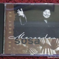 CDs de Música: MERCEDES SOSA (THE BEST OF MERCEDES SOSA- CON FITO PAÉZ, SILVIO RODRIGUEZ, LEÓN GIECO...) CD 1997. Lote 109608615