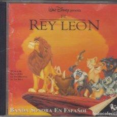 CDs de Música: EL REY LEÓN CD BANDA SONORA EN ESPAÑOL 1994 WALT DISNEY. Lote 109854031