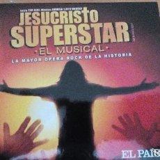 CDs de Música: JESUCRISTO SUPERSTAR EL MUSICAL CD EL PAIS CON LIBRETO. Lote 109992955