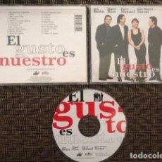 CDs de Música: CD - EL GUSTO ES NUESTRO - ANA BELEN, MIGUEL RIOS, VICTOR MANUEL, SERRAT - BMG 1996 - EN DIRECTO. Lote 110086947
