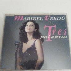 CDs de Música: MARIBEL VERDU TRES PALABRAS ( 1993 MERCURY ESPAÑA ) RARA EDICION CD SINGLE ORIGINAL. Lote 110145223