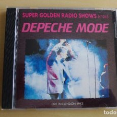 CDs de Música: DEPECHE MODE LIVE 1982, (CD SUPER GOLDEN RADIO SHOWS ) NO OFICIAL, RAREZA,1991,MANUFACTURED IN ITALY. Lote 110194327