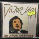 CDs de Música: VÍCTOR JARA - 20 AÑOS DESPUÉS - CD. Lote 110219190