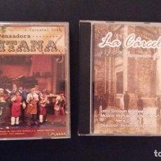 CDs de Música: LOTE 2 CD CARNAVAL DE CADIZ 2004 COMPARSA LA CÁRCEL VIEJA Y 2009 LA PENSADORA GADITANA. Lote 110229307