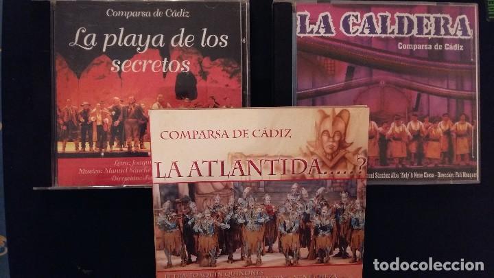 LOTE 3 CD CARNAVAL CADIZ COMPARSAS 2006 LA CALDERA 2005 LA ATLÁNTIDA Y 2007 LA PLAYA DE LOS SECRETOS (Música - CD's Flamenco, Canción española y Cuplé)