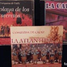 CDs de Música: LOTE 3 CD CARNAVAL CADIZ COMPARSAS 2006 LA CALDERA 2005 LA ATLÁNTIDA Y 2007 LA PLAYA DE LOS SECRETOS. Lote 110230131