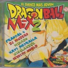 CDs de Música: DRAGON BALL MIX 2 DOBLE CD EL DANCE MÁS JOVEN 1998. Lote 110255039