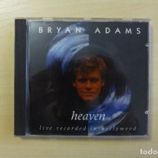 CDs de Música: BRYAN ADAMS - HEAVEN - LIVE RECORDED IN HOLLYWOOD CD, UNOFFICIAL RELEASE,1993,MUY RARO. Lote 110400099