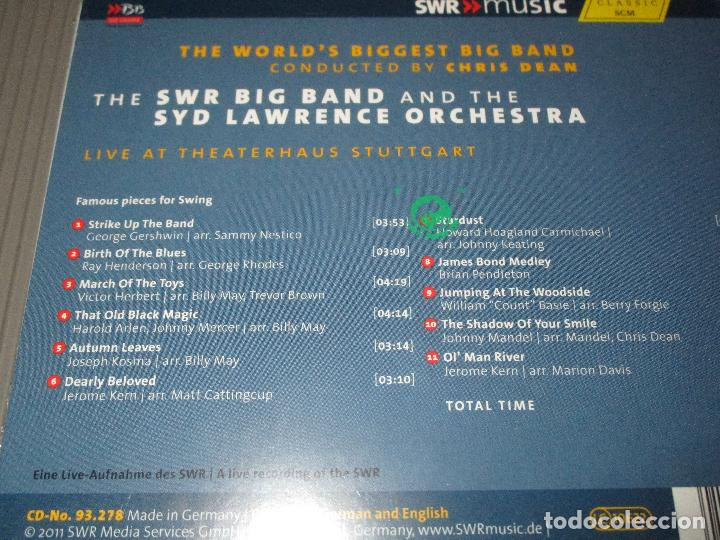CDs de Música: THE WORLD'S BIGGEST BIG BAND ( CONDUCTED BY CHRIS DEAN ) - CD DIGIPACK - 93.278 - HANSSLER - Foto 3 - 110403387