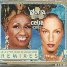 CDs de Música: GLORIA ESTEFAN. CELIA CRUZ. TRES GOTAS DE AGUA BENDITA (REMIXES) (CD ALBUM 2000). Lote 110403547