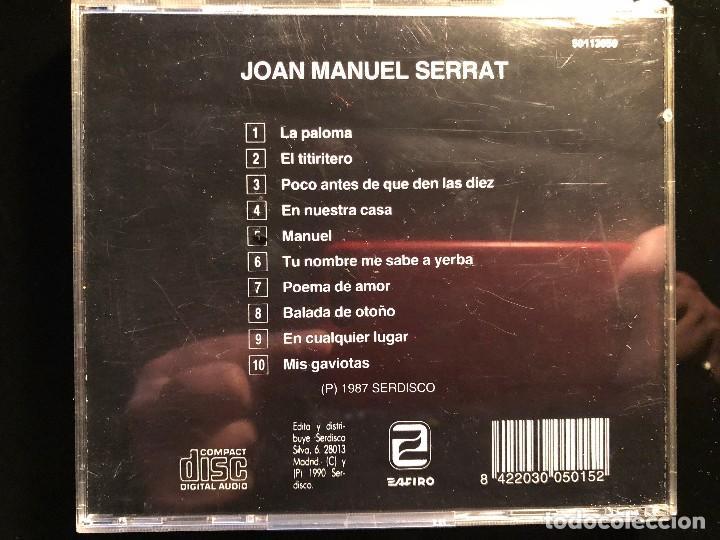CDs de Música: JOAN MANUEL SERRAT JOAN MANUEL SERRAT - Foto 2 - 110476275