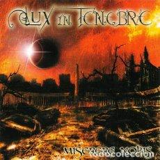 CDs de Musique: LUX IN TENEBRE - MISERERE NOBIS 2009 CD DESCATALOGADO. Lote 110524275