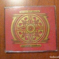 CDs de Música: HEROES DEL SILENCIO -NUESTROS NOMBRES- MAXI 4 TEMAS BUNBURY. Lote 110782495
