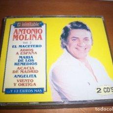 CDs de Música: PACK DE 2 CDS EL INIMITABLE ANTONIO MOLINA. RARO EN CDS PARA COLECCIONISTAS... Lote 110904315