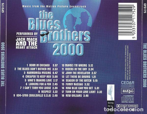 CDs de Música: Jack Mack and The Heart Attack - The Blues Brothers 2000 - Foto 2 - 110922731
