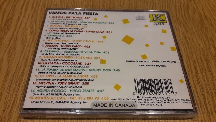 CDs de Música: VAMOS PA LA FIESTA. CD / KUBANEY-CANADÁ - 1991. 15 TEMAS / PRECINTADO. - Foto 2 - 111045503