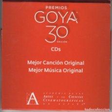 CDs de Música: 30 EDICIÓN PREMIOS GOYA 5 CD'S CON LAS CANDIDATURAS A MEJOR CANCIÓN Y MÚSICA ORIGINAL 2016. Lote 111063375