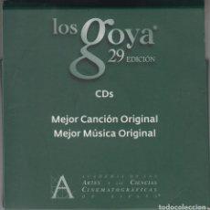CDs de Música: 29 PREMIOS GOYA 5 CD'S CON LAS CANDIDATURAS A MEJOR MÚSICA Y CANCIÓN ORIGINAL 2015. Lote 111063651