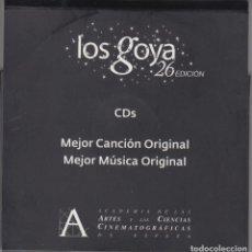 CDs de Música: 26 PREMIOS GOYA 5 CD'S CANDIDATURAS A MEJOR MÚSICA Y CANCIÓN ORIGINAL 2012. Lote 111064055